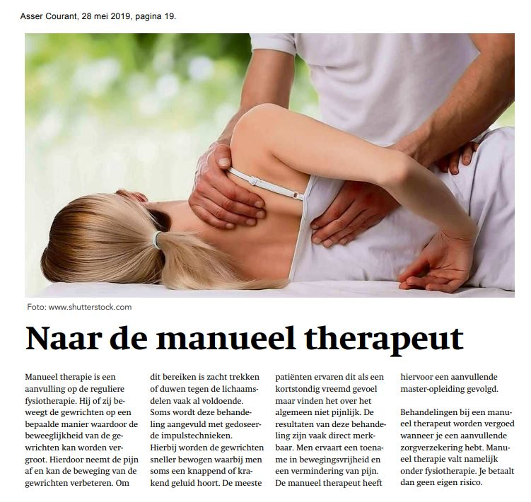 artikel manueel therapeut